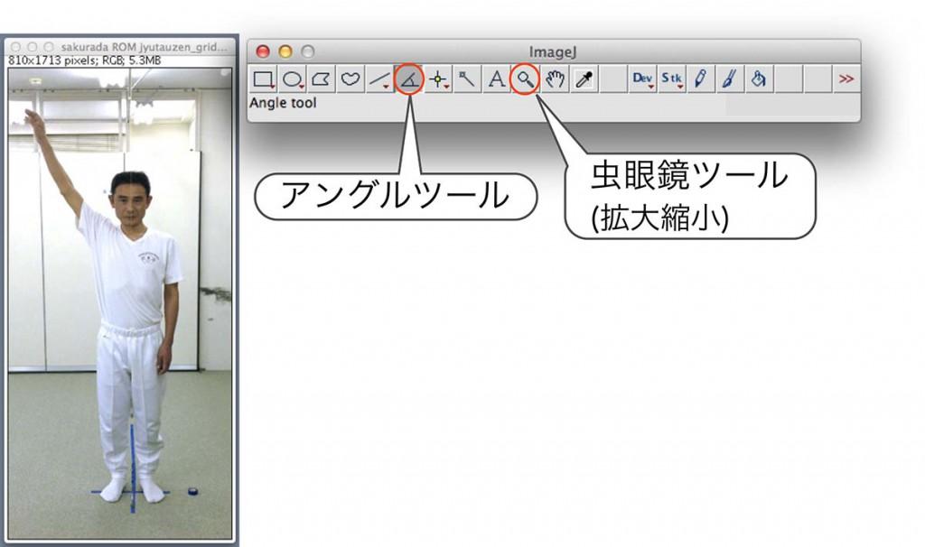 図18. ImageJ 操作パレット